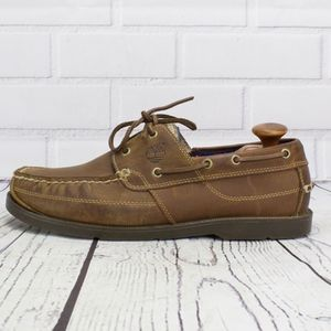 Timberland Earthkeepers Brown Leather Boat Shoes